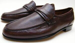 MENS ALLEN EDMONDS BERGAMO BURGUNDY LEATHER SLIP ON LOAFER DRESS SHOES 8.5~1/2 D
