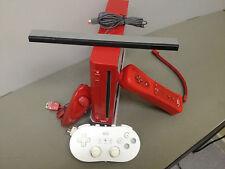 Console Nintendo Wii Rossa Completa di Joystick, Nunchuck, Sensore, Joypad