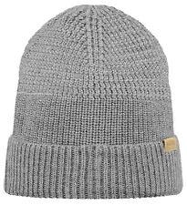 Barts Mütze LINCOLN Beanie grau Mütze heather grey Beanie Merino Winter Mütze