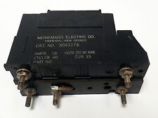HEINEMANN X0411TS 18A AND X0411CSK 3A CIRCUIT BREAKERS