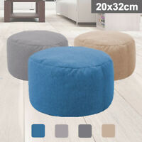 2019 Fabric Ottoman Footstool Foot Stool Rest Pouffe Seat Bean Bag Cover