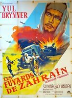 Plakat Kino Les Fuyards Von Zarhain Yul Brynner - 120 X 160 CM