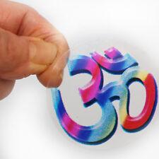 Aufkleber Sticker 2 x OM Transparent Indien Goa Hippie God-Stickers  55mm  74