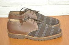 Mens Shoes PHILIPPE MODEL Lace-Up Brown Leather and Striped Oxford Size 8 EU 42