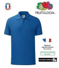 New Fruit of the Loom FOTL Premium Polo Shirt Haut Man Homme / Bleu Blue XXL