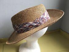 Excellent * KANGOL Straw FEDORA Hat