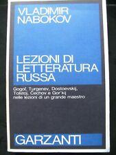 NABOKOV Lezioni di letteratura russa Garzanti- Dostoevskij,Gogol,Cechov,Tolstoi