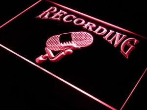 Youtuber Gift Recording Microphone Home Studio Equipment Light Up Neon Art Sign
