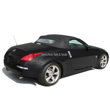 Fits: 2004-2009 Nissan 350Z, Convertible Top w/Glass Window, Black Twill Vinyl
