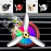 LED Light Car Air Freshener Air Force Propeller Shape Air Perfume Diffuser