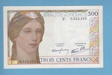 (Ref: F.035 )  300 FRANCS CLEMENT CERVEAU TYPE 1938 NON DATE (SUP) RARE