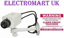 DUMMY FAKE DECOY CCTV SECURITY CAMERA METAL BODY FIXINGS WARNING STICKERS