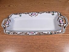 ANTIQUE NIPPON HAND PAINTED CELERY DISH ROSES