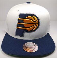 Mitchell & Ness NBA Indiana Pacers Team XL Logo 2 Tone Snapback Cap Hat