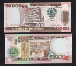 MOZAMBIQUE 50000 (50,000) Meticais, 1993, P-138, UNC World Currency