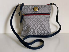 NEW! TOMMY HILFIGER GRAY RED NORTH SOUTH MESSENGER CROSSBODY SLING BAG $69 SALE