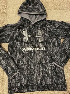 Under Armour Youth Gray Hoodie size XL Cold Gear