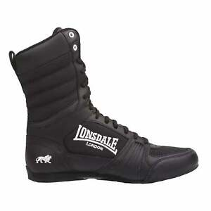 Lonsdale Mens Contender Boxing Boots Full Lace Up Sports Shoes Trainers Footwear