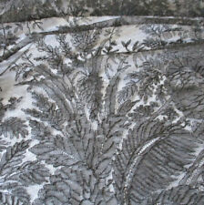 """Antique Victorian 19thC Handmade Mourning Black Chantilly Lace 104"""" Shawl Veil"""