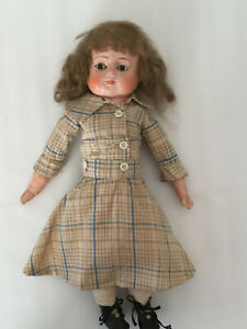 """Antique 14"""" Composition Mohair Character Doll"""