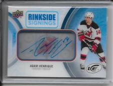 16-17 Upper Deck Ice Adam Henrique Rinkside Signings