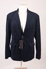 Zara Man Mens Velvet Blazer Jacket Sport Coat Navy Blue Lapel Small 1792/305