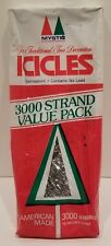 Vintage Icicles in Package American Made Lead Free Flameproof Mystic