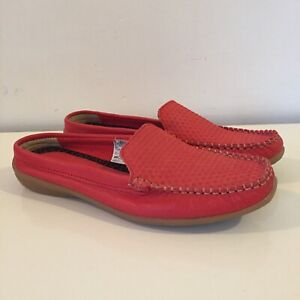 New Clarks Soul Of Africa Leather Falax Tamaris Slip On Shoes Orange 7M