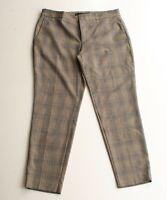 Zara Glen Plaid Ankle Skinny Trouser Pants Size 8