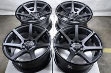 15x8 Wheels Neon Spark Civic Accord Fit Elantra Spectra Miata Matt Black Rims
