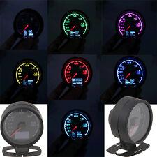 7 Colors Adjustable 60mm Digital Turbo Boost Pressure Gauge Car Meter Black Case