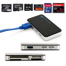 USB 3.0 All-in-one Card Reader For CF Micro SD SDHC M2 MS MMC 5Gbps 6 slots UK