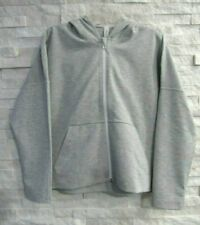NWT Lululemon Gray Stretch Boxy Relaxed Zip Front Minimal Hoodie Jacket 10