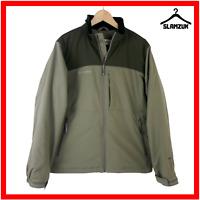 Columbia Jacket Mens M Medium Softshell Khaki Green Waterproof Sportswear