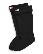 Hunter Original Womens Black Tall Fleece Welly Boot Socks Sz L 6105