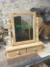PINE FURNITURE BEDROOM MIRROR DRAWERS TO COMPLIMENT ANY OF OUR DRESSING TABLES