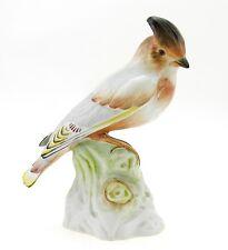 Herend Bohemian Waxwing Bird Figurine