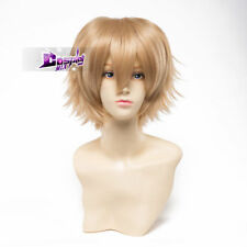 Daily Style Girls Short 30 CM Blonde Wavy Anime Cosplay Wig + Wig Cap