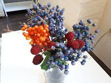 Deko Beerenzweig orange Künstliche Kunst Pflanzen Blumen Tisch Herbstdeko