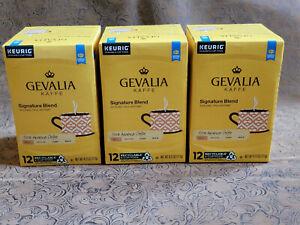 Gevalia Kaffe Signature Blend Mild Arabica 36 (3 x 12) K-Cup Pods 4.12 Oz Keurig