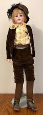 "Antique 33"" German Boy Bisque Doll Kid Body Germany"