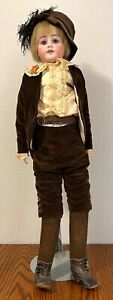 "Antique 33"" German Boy Bisque Doll Kid Body Germany"
