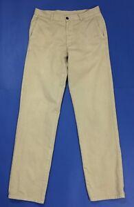 More & more pantalone uomo usato W33 tg 47 vintage chino dritti beige T2939