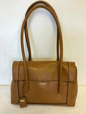 RADLEY TAN LEATHER FLAP FRONT SHOULDER BAG