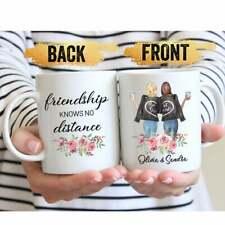 Personalized Best Friend Mug Friendship Knows No Distance Personalized Mug