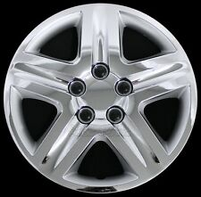 "16"" Set of 4 Chrome Wheel Covers Snap On Full Hub Caps fit R16 Tire & Steel Rim"