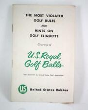 THE MOST VIOLATED GOLF RULES U.S. ROYAL GOLF BALLS 1957 PAPERBACK~HTF