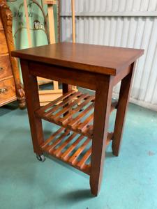 H17018 Timber Kitchen Island Cart