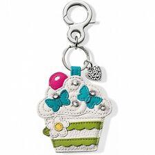 NWT Brighton Your Bag SWEET CAKES Cupcake Handbag Fob Key Chain Leather MSRP $50