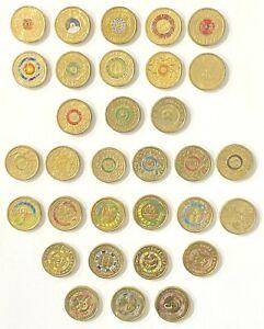 Australian $2 coin collection 2012 - 2020 Colour 32 Coins Rare in Coin Capsule